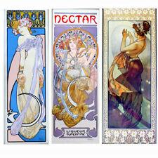 Alphonse Mucha Art Nouveau Magnetic Poster 7x18 Canvas Print FRIDGE MAGNET