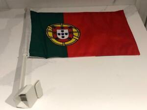"Team Portugal International Soccer 11.5 x 15"" Double Sided Car Truck Window Flag"
