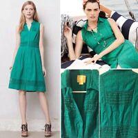 Anthropologie • Maeve Swiss Dot Dress Size 2