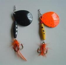 6 NEW Long Cast Spinner Bait Fishing Lure Lot 0.5 oz hooks lures jig