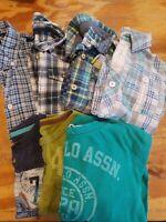 Large Lot Sz 5 And 5/6 Boys Long Sleeve Shirts Dress Shirts Gap, Baby Gap...
