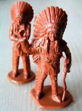 CAPO INDIANO 2 INDIAN SOLDIERS SOLDATINI Plastica 9 cm Anni 80 da Collezione