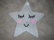 Sweet Dreams Smiling Grey Star Rug Cloud Mat Nursery Rug Childrens Bedroom Rug