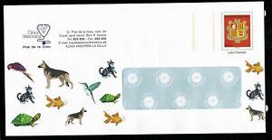 ANDORRA Postal Stationary stamp ARMS illustred VETERINAIRE Animals  **