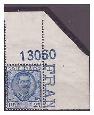 REGNO 1926  - FLOREALE - Lire 1,25   **  NUMERO DI TAVOLA