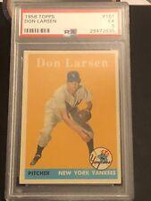 Don Larsen 1958 Topps PSA 5 Ex #161 Yankees