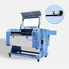 NEW! 60W CO2 USB LASER ENGRAVING CUTTING MACHINE+ Rotary Axis