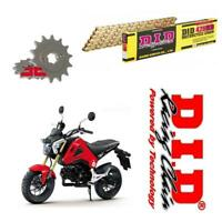 Honda MSX125 DID Gold Chain and Sprocket Kit 428 UPGRADE