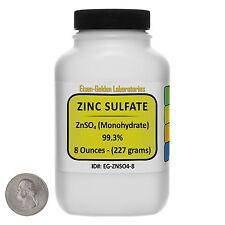 Zinc Sulfate [ZnSO4] 99.3% ACS Grade Powder 8 Oz in a Space-Saver Bottle USA