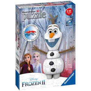 Ravensburger Disney Frozen 2 3D 54 Piece Olaf Shaped Jigsaw Puzzle - 11157