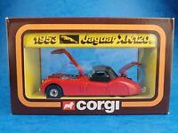 Vintage Die-cast CORGI - 1953 JAGUAR XK120  #803 1983 Cars of The 50's Mettoy