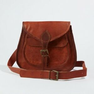 Hobo Purse Women Vintage Broad Fine Quality Leather Messenger Cross Body Bag