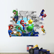Super Mario Bros Wall Sticker Vinyl Decal Family Kids Room Game Mural Home Decor
