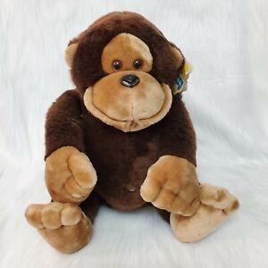 """16"""" Vintage 1985 Dakin Baby Hugo Monkey Gorilla Large Plush Nature Babies Toy"""