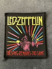 Vintage Led Zeppelin Song Remains the Same patch NOT Deep Purple Rainbow Queen