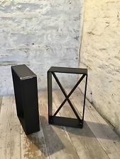 2 x fatto a mano in acciaio grezzo PONTEGGIO TAVOLA sedile a panca gambe Stile Industriale Croce