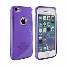 Purple Silicone Gel S-Line TPU Case Cover Protection for Apple iPhone 4 & 4S UK