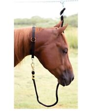 Neck Collar for Horses Nickel plated buckle ring Black
