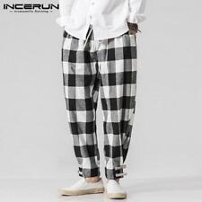 2018 NEW Men Harem Pants Plaid Casual Pant Hiphop Trousers
