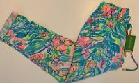 NWT Lilly Pulitzer Aden Multi Color Linen Pants Multi Surf Gypsea Summer Size S