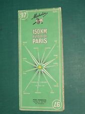 Carte MICHELIN n° 97 150 Km. autour de Paris 1968