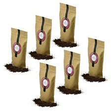 Natural Exfoliating Coffee Scrub for Face & Body Damask Rose Oil Set of 6x150g