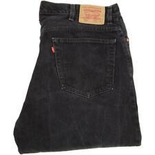 Levi's 560 Men Charcoal Straight Regular Jeans W42 L36 (51195)