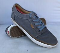 VANS Lo Pro Grey Canvas Lace Up Skate Shoes Ultra Cush HD 721356 Men's Size 10.5