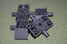 (4) Dark Gray 4x2x1 Axle / Spacer Bricks ~ Lego ~ NEW ~ Star Wars ~ Technic