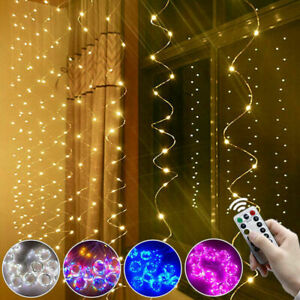 USB LED Curtain Fairy String Lights Window Wedding Decor Christmas xmas gift UK