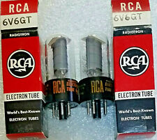 Matched Pair 6V6GT RCA NOS NIB Vacuum Tubes, TV-7D Test 121%+ -will combine ship