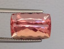 Imperial Topaz Brazilian fine salmon pink color 11.18 ct with GIA Report