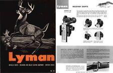 Lyman 1963 Sights & Reloading No44 Catalog