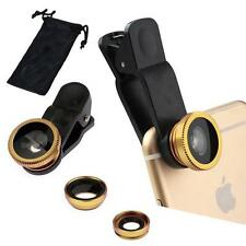 3 in1 Fish Eye+Wide Angle+Macro Camera Clip-on Lens for Universal Cell Phone -S