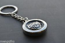 Jaguar Black Logo Stainless Keyring Key Ring Key Chain English XJ XK XF