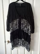 TS Taking Shape Black and White Crushed Cardigan Size 14
