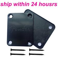 Black Electric Guitar Neck Plate for Fende r Style Mit Fen der Logo Guitar Parts