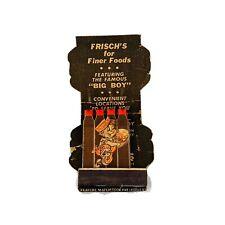 Vintage Feature Matchbook Matches Frisch's Featuring The Famous Big Boy