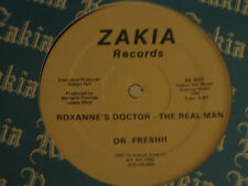 "DR. FRESHH ROXANNE""S DOCTOR - THE REAL MAN 12"" ORIG '85 ZAKIA OLD SCHOOL RAP VG+"