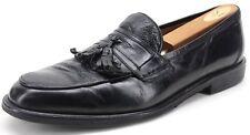Renzo Morini Men's Black Leather Kiltie Tassel Loafers US 10.5 D Made in Italy