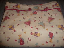 Laura Ashley Twin Fairy Princess Star Flower Pastel Flat Sheet Pink Purple White