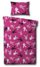 Playboy Rabbit Emblem Repeat Hot Pink Single Bed Duvet Quilt Cover Bed Set
