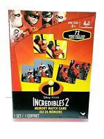 Disney Pixar Incredibles 2 Memory Match Game Box Set NEW