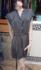 Chinese style lovely silky stylish dress tunic metallic Grey UK 10 F&F