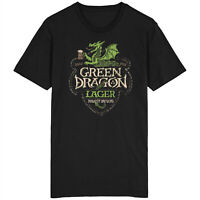 Green Dragon Lager T Shirt Lord Of The Rings LOTR Frodo Hobbit Gandalf Sauron