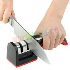 Knife Sharpener 2 Stages Hard Carbide Ceramic Sharpening Stone Household Handle
