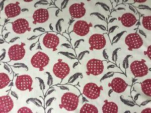 Sanderson Curtain Fabric 'Anaar' 3.1m Tyrian Cherry - Linen mix - Caspian Prints