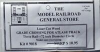 "Atlas O 3-rail 72"" Wood Railroad Crossing for curved sectional (6062) track"