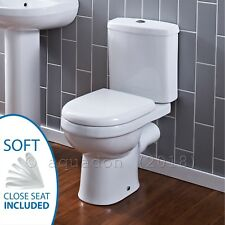 Premier Ultra Ivo Bathroom Ceramic Toilet Close Coupled White WC Pan Seat