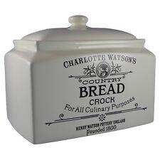 Charlotte Watson Rectangular Bread Crock Cream